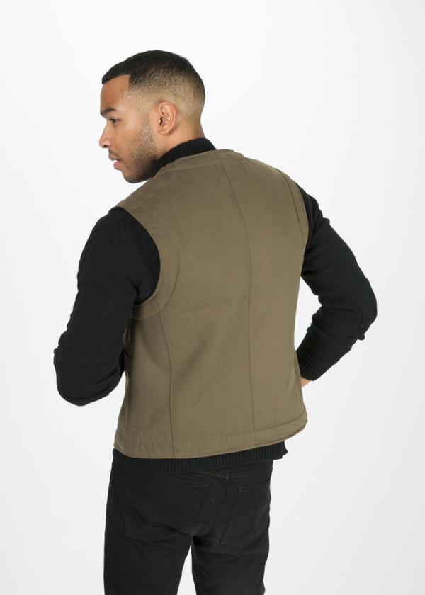 Margaret Howell Men's Shearing Lined Drill Cotton Vest