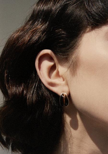 Luz Oritz Tiger's Eye Mizner Earrings