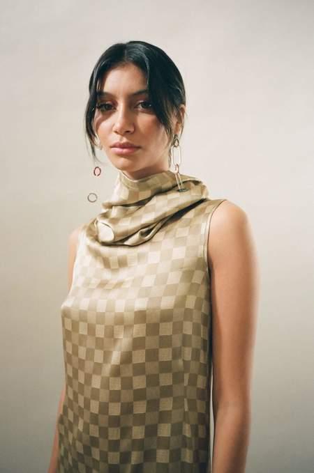 Baserange Ozum Checked Dress
