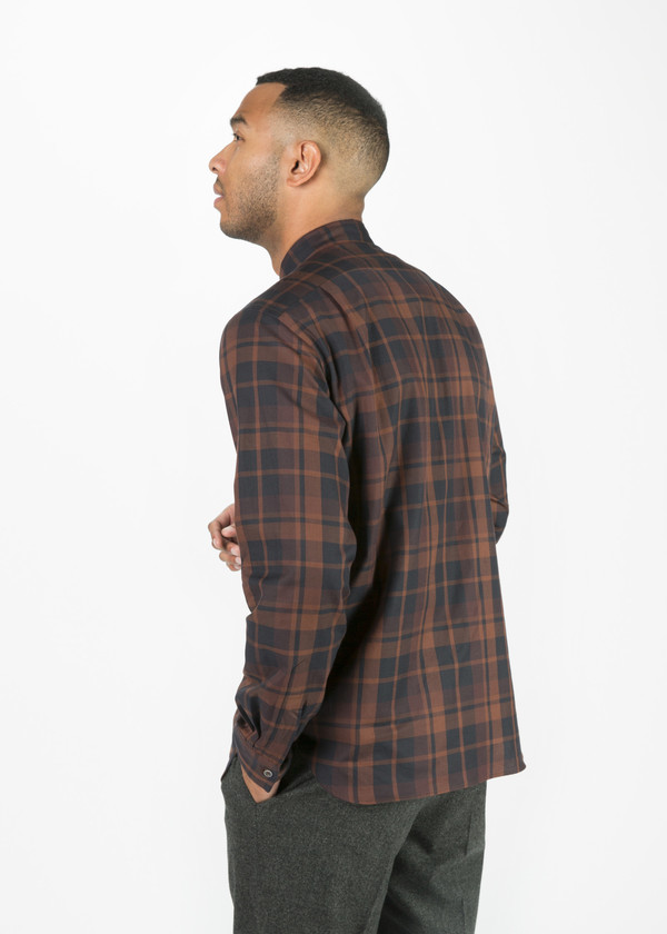 Men's Margaret Howell Tonal Check Plaid Shirt