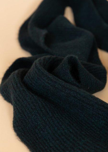 Homecore Baby Alpaca Wool Scarf - Dark Green