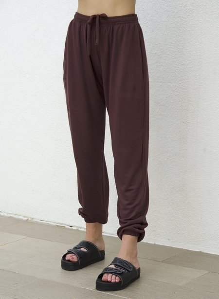 LnA Brushed Terry Relaxed Sweat - Deep Mahogany