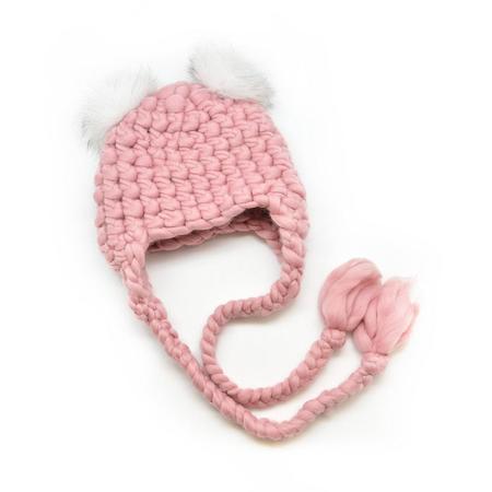 Pink Mischa Lamperte nolita mickey mini poms beanies - Dusty rose/white