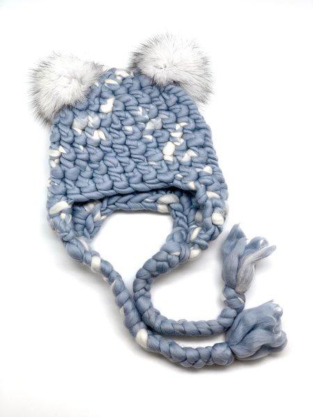 Kids Mischa Lampert mini poms snow nolita mickey beanies - White/blue