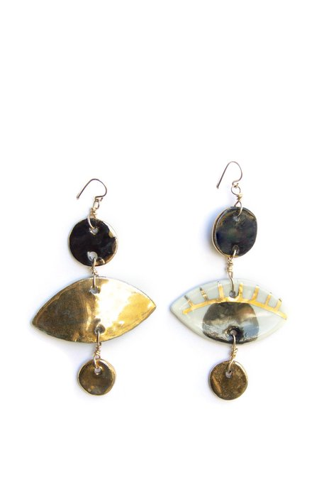 Ippolita Ferrari Lux Occhi Dot Earrings - Black