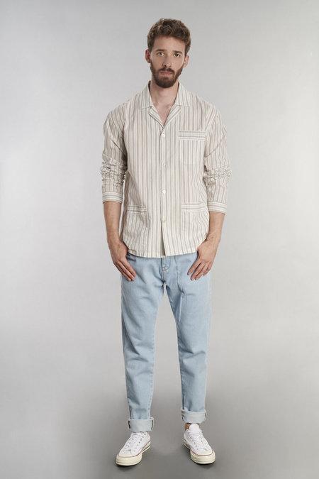 Delikatessen Pyjama Striped Cotton Shirt