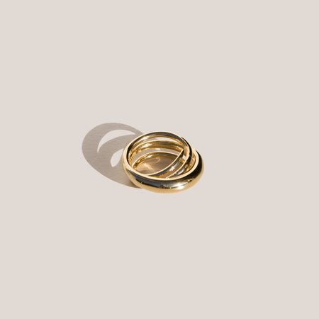 Charlotte Chesnais Hurly Burly Ring - gold