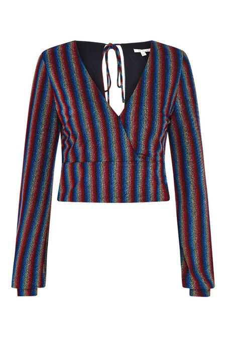 Olivia Rubin Alisa Metallic Stripe Top - Multi