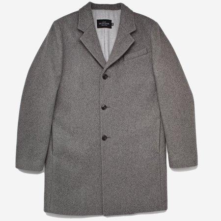Outclass Attire Wool Driving Coat - Grey