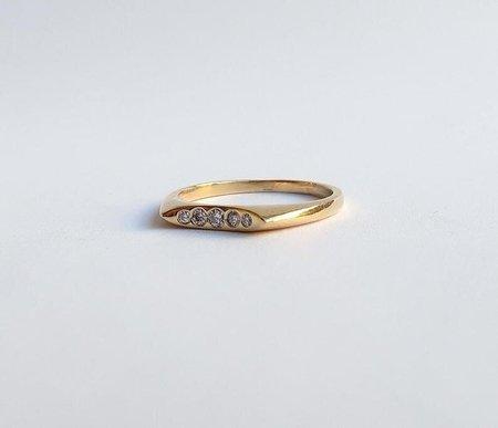 Nishi Five Diamond Ring - 14k Gold