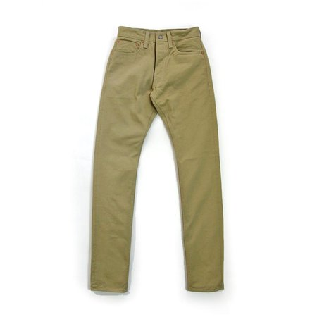 Pure Blue Japan 12oz Selvedge Twill Relaxed Fit Chino - Wash Beige