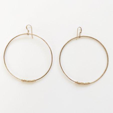 Bijoux B Large Wire Hoop Earrings - 14k Gold Filled