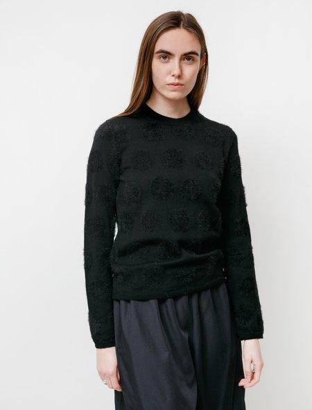 Comme des Garçons Tonal Intarsia Dot Pullover - Black