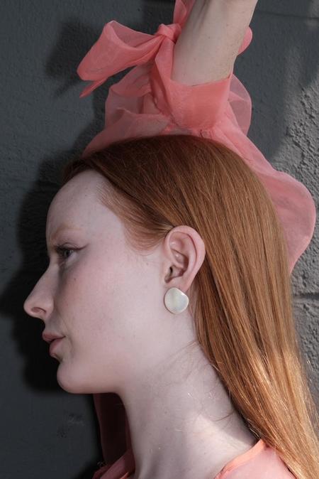 Four Eyes Ceramics Oona Earrings - Pearl