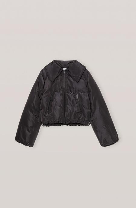 Ganni Cropped Puffer Jacket - Black