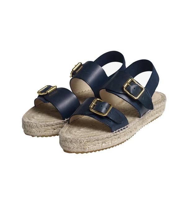 Nanushka Emblem Flatform Espadrille Sandals