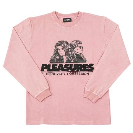 PLEASURES Discovery Heavy Weight Washed Shirt - Pink