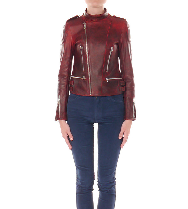 EACH X OTHER Embossed Leather Jacket
