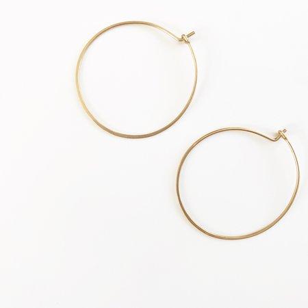 Bijoux B Hoops Traditional Hoop Earrings - 14k gold