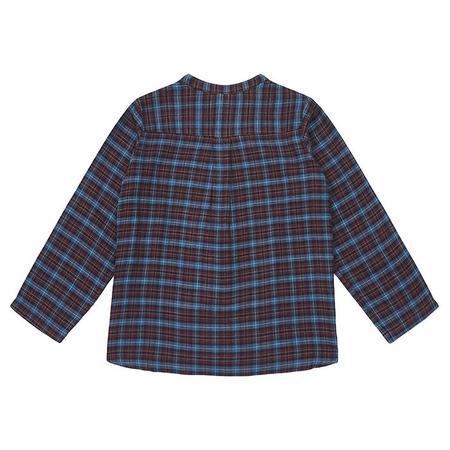 KIDS Bonton Child Matteo Shirt - Bordeaux Red Plaid