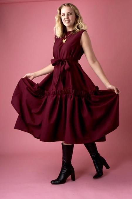 Ouimillie x MCK Sautiller Dress - Cranberry