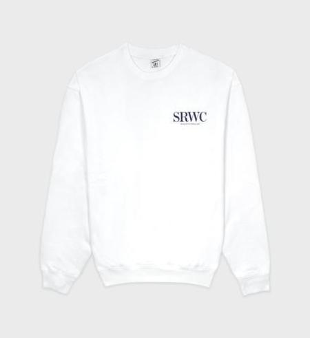 Sporty & Rich Upper East Side Crewneck sweater - White