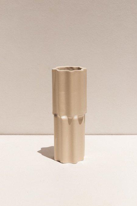 Ella Reweti Tilde Stacked Vase - Chalk