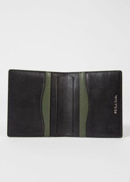 PAUL SMITH Slim B-Fold Zebra Wallet - Black