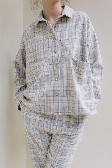 BEATA Design Studio Elena Loungewear Shirt - Gray