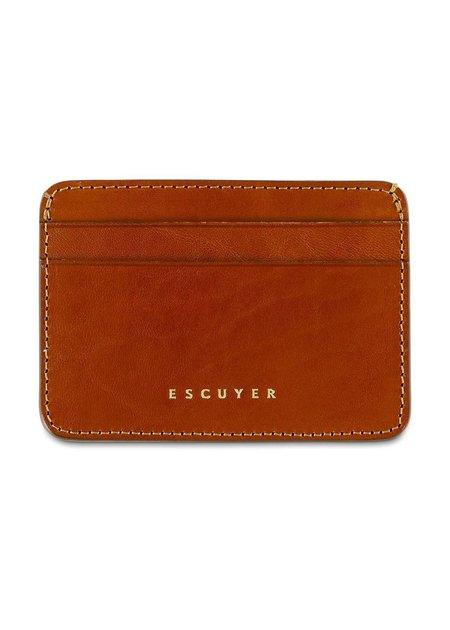 Escuyer Cardholder Wallet - Cognac