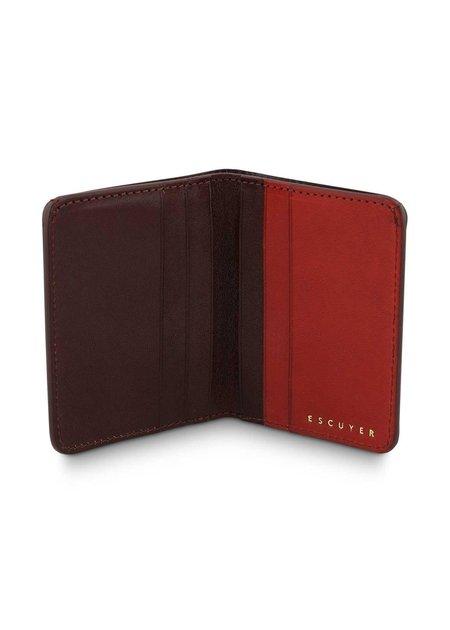 Escuyer Slim-Wallet - Burgundy & Red
