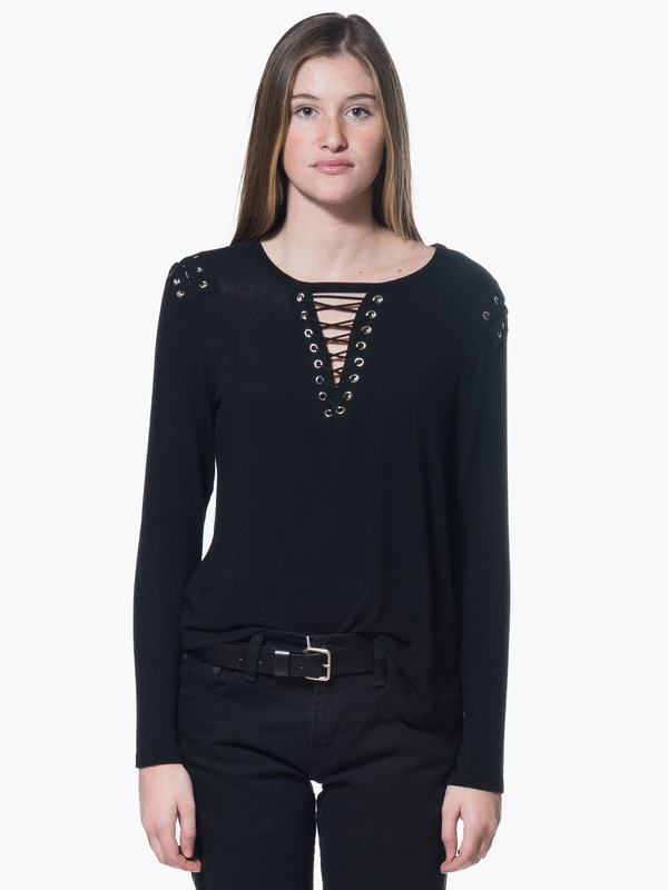Generation Love Vivi Lace Up Top