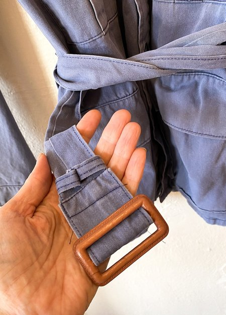 Vintage Military Jacket - Denim Blue