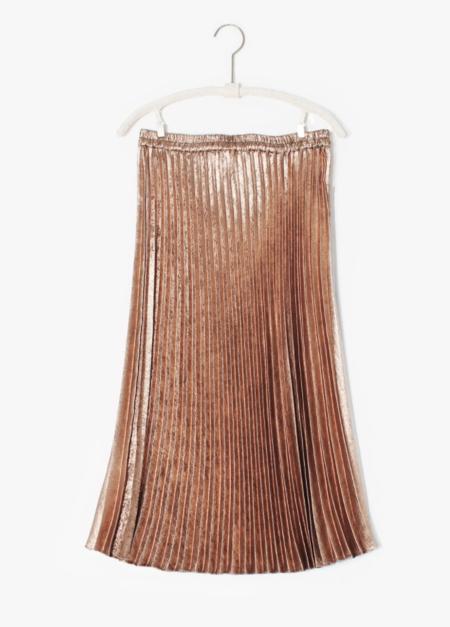 Xirena Queen Pleated Skirt - Bronze
