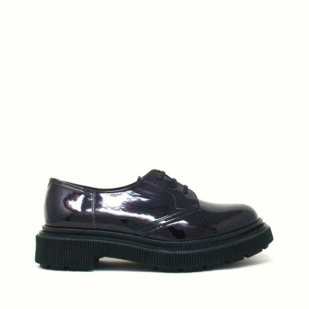 Adieu Type 132 Shoes - Black vinyl/red glitter