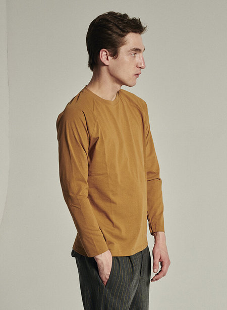 Delikatessen Organic Cotton Long Sleeve T-Shirt - Mustard