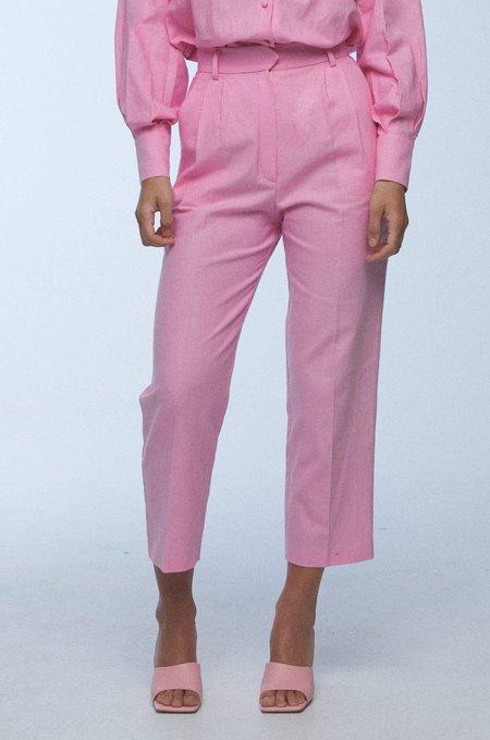 baaby Pleat Front Trousers - Bubblegum