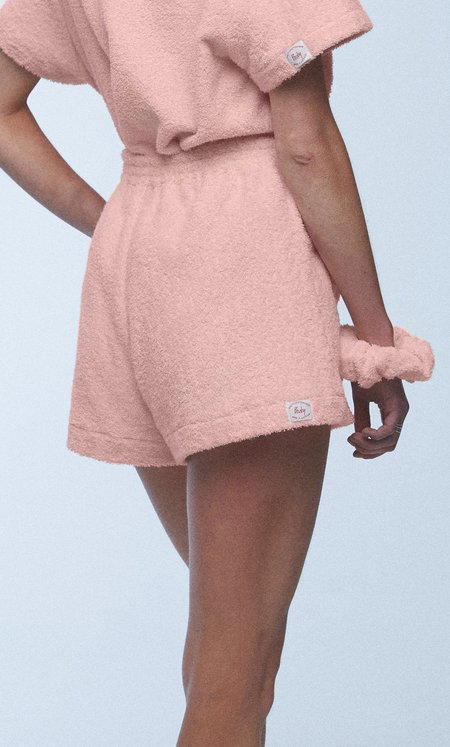 baaby Terry Towelling Big Pocket Shorts - Dusty Rose