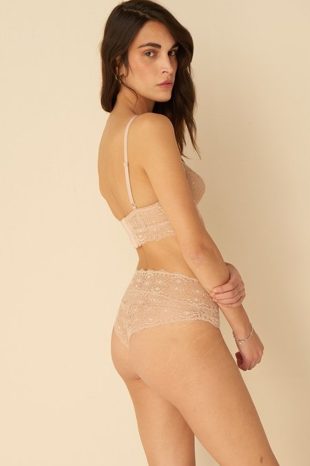 Else Flora High Waisted Thong - Bisque