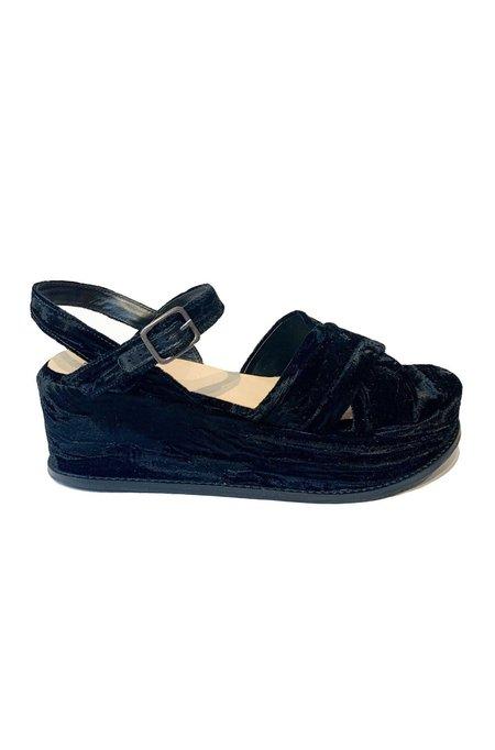 Anna Sui Alexia Sandal - Crushed Black Velvet