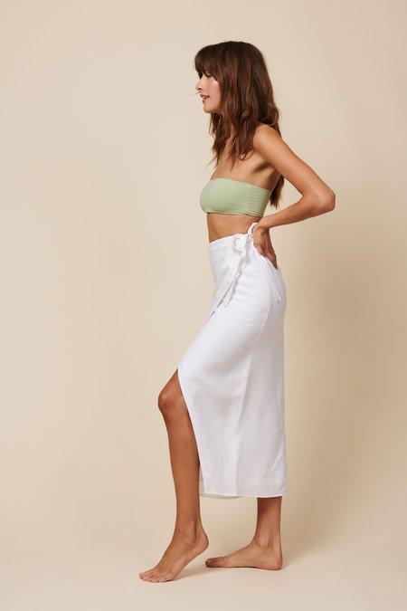 Whimsy + Row Valentina Skirt - White Linen