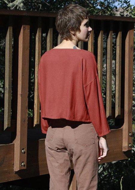 Me & Arrow Drop Shoulder Long Sleeve - Rustic Red