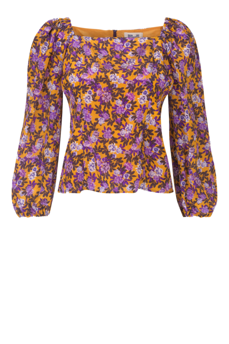 Baum und Pferdgarten Merlina Long Sleeve Blouse - Paris Flower Sunshine