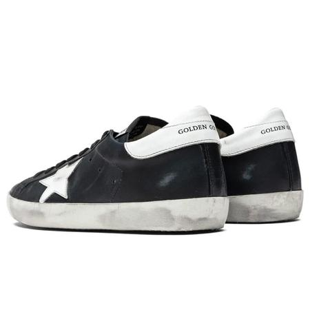 Golden Goose Super-Star Leather Upper Shiny Leather Star And Heel SNEAKERS - Black/White