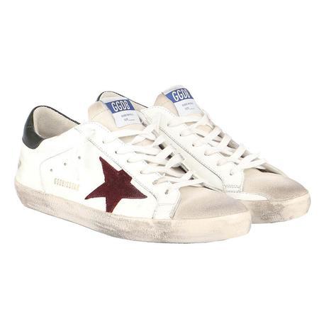 Golden Goose Super-Star Leather Upper And Heel Suede Toe Sneakers