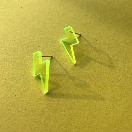 Wasted Effort BOLT STUDS - Neon Yellow