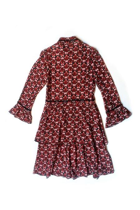 Anna Sui Long Sleeve Butterfly Dress