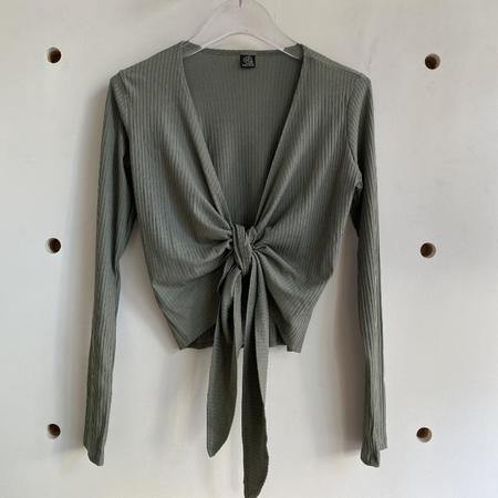 Only Hearts Eco Rib Wrap Top - Olive