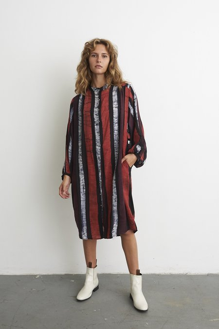 Osei-Duro AW20 DEL 2 FLOUNCY DRESS - SIDEWALK CHALK