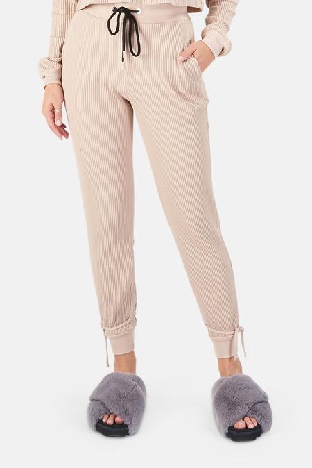 The Range Waffle Knit Joggers Pants - Saddle